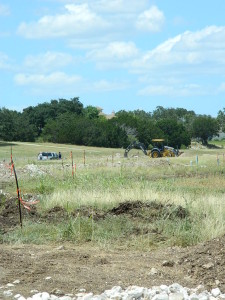 Construction Site Lakeway Airpark Estates near Austin TX with Zbranek & Holt Custom Homes, Austin Luxury Custom Home Builders
